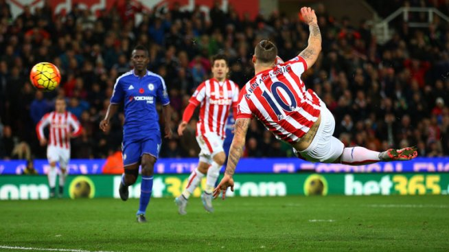 Marko Arnautovic condemned Chelsea to a seventh defeat in 12 games image: skysports.com