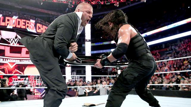 After losing to Sheamus, Roman Reigns unleashed on the boss Triple H image: wwe.com