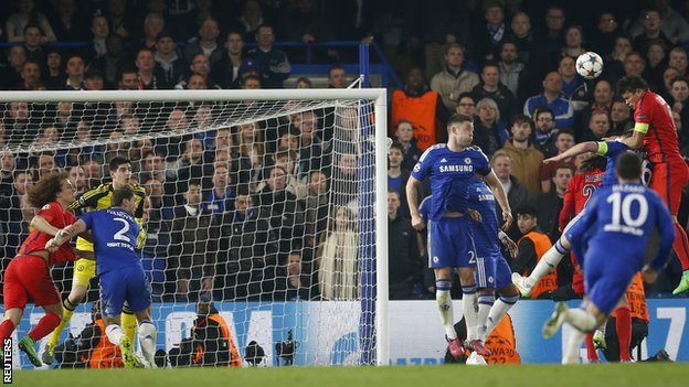 Thiago Silva's goal helped PSG knock out Chelsea in the last 16 last season image: sirkenayo.com