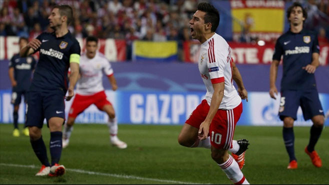 Benfica won at Atletico Madrid 2-1 back in September image: fanatik.com.fr