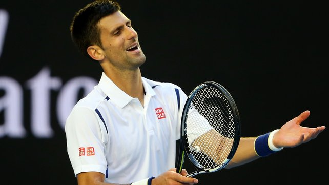 Novak Djokovic hit 100 unforced errors in his match with Gilles Simon image: rte.ie