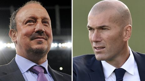 Zinedine Zidane replaces Rafa Benitez as Real Madrid head coach image: bbc.co.uk