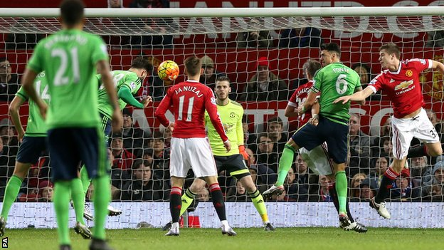 Charlie Austin's first Sainst goal helped them secure victory at Old Trafford image: 365football.org