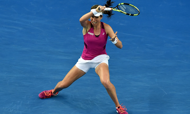 British number one Johanna Konta reached her first grandslam quarter-final image: smartflightsuit.com