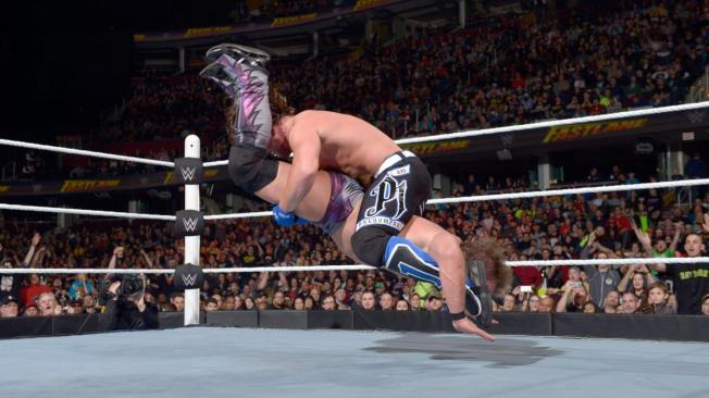 AJ Styles hit the Styles Clash on Chris Jericho image: wwe.com