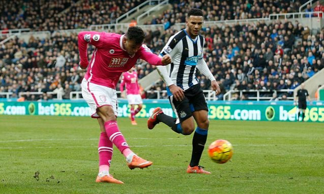 Josh King scores in Bournemouth's 3-1 win at Newcastle image: dailymail.co.uk