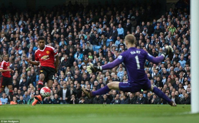 Marcus Rashfors gave United the winner in his Manchester derby debut image: fcexclusive.com