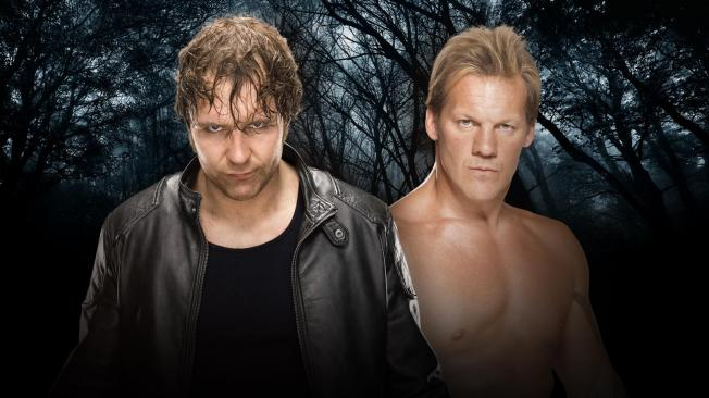 Chris Jericho looks to take down the Lunatic Fringe Dean Ambrose image: wwe.com