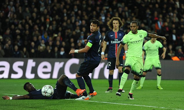 Man City take two away goals into the second leg next Tuesday image: dailymail.co.uk