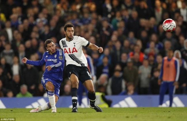 Eden Hazard's equaliser ended Tottenham's title bid image: dailymail.co.uk