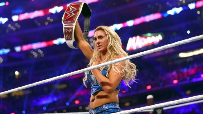 Charlotte defeated becky Lynch and Sahsa Banks to win the new Women's Championship belt image: wwe.com