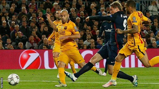 Fernando Torres away goal could prove vital if Atletico are to progress image: bbc.com