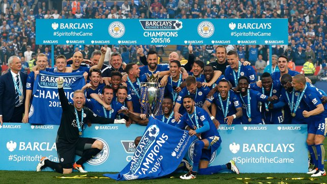 Leicester are the first new champions of England since Nottingham Forest in 1978 image: rte.ie