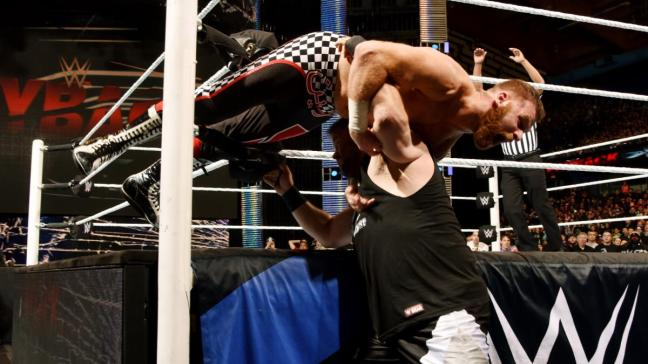 Kevin Owens overcame Sami Zayn in the match of the night image: wwe.com