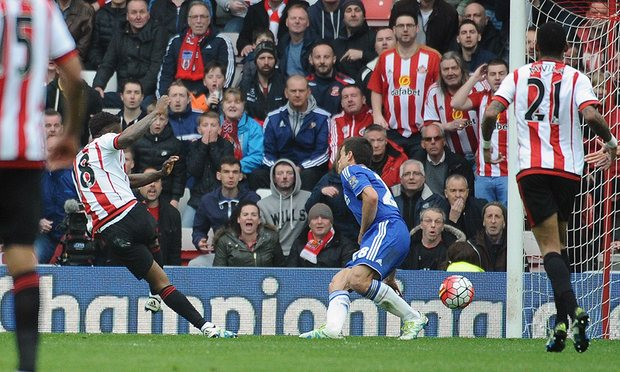 Jermain Defoe's 15th goal of the season gave Sunderland a 3-2 win over Chelsea image: theguardian.com