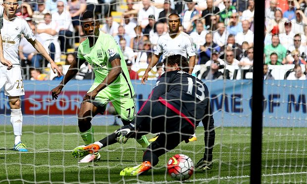 Man City's point at Swsnsea was enough to seal fourth place image: theguardian.com