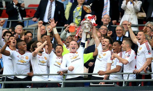 Man United won thier first silverware in three seasons image: thegurdian.com