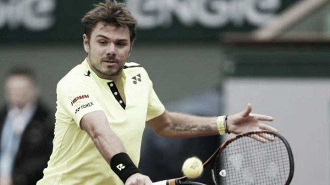 Defending champion Stan Wawrinka narrowly avoided a shock first round exit image: matchforecaster.com