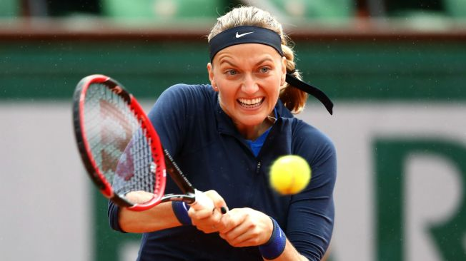 Petra Kvitova overcame a sacre on a rain hit opening day at Roland Garros image: sportalnz.gearbox.performgroup.com