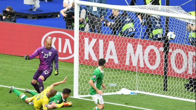 Ciaran Clark's own goal cost Ireland victory against Sweden image: rte.ie