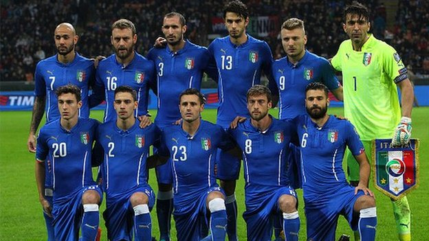 Italy were beaten finalists in Euro 2012 with a heavy 4-0 loss to Spain image: halftimeng.com