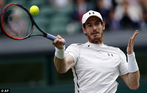 Andy Murray's last grand slam win was at Wimbledon in 2013 image: dailymail.co.uk
