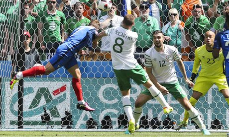 Ten-man Ireland fell to a narrow defeat to hosts France image: theguardian.com