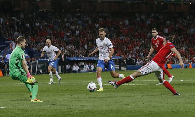 Wales' Gareth Bale is joint top scorer so far with three goals image: theguardian.com
