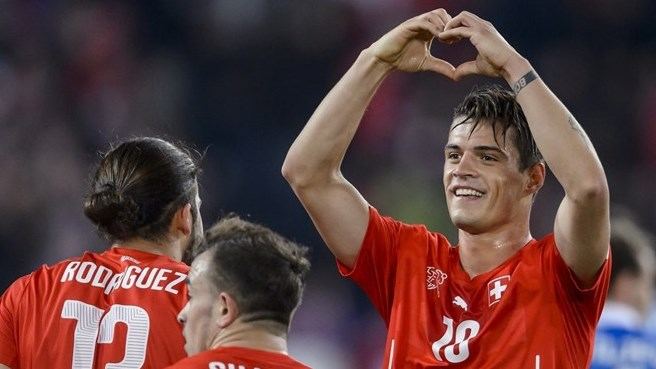 Granit Xhaka completed a £35m move to Arsenal last month image: uefa.com