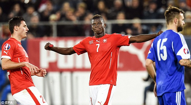 Breel Embolo is already a summer target for Premier League clubs image: dailymail.co.uk