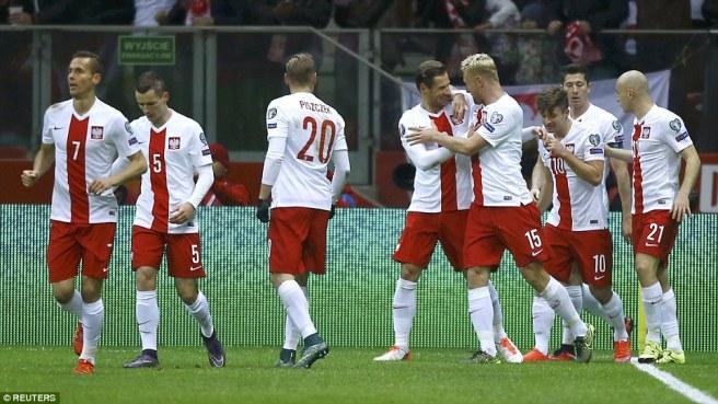 Poland beat world champions Germany in qualifying image: dailymail.co.uk