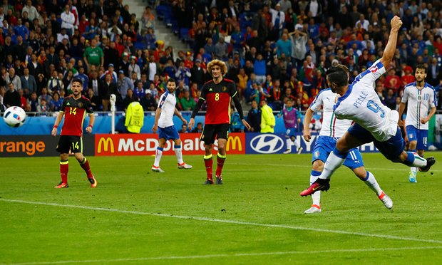 Italy stunned Belgium in thier opening match image: theguardian.com