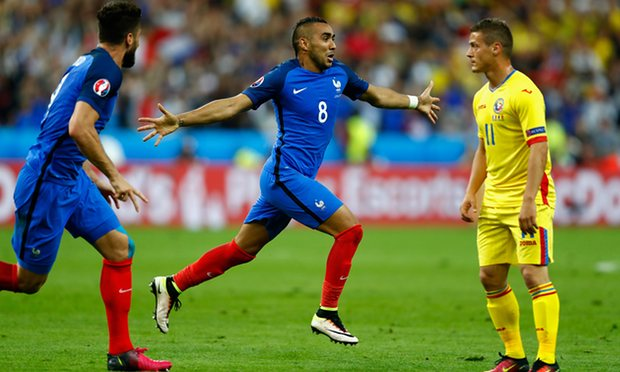Dimitri Payet gave France a late win over Romania image: theguardian.com