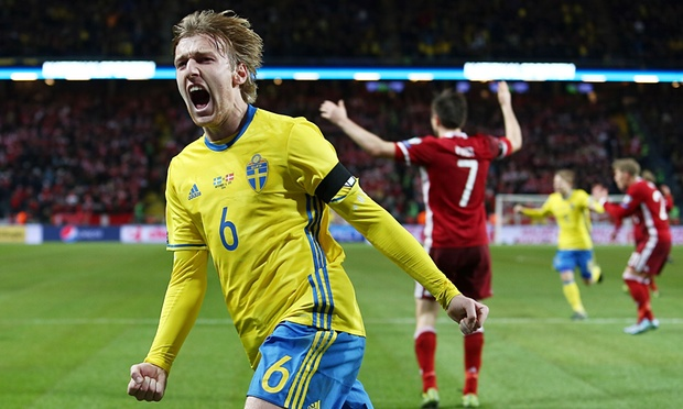 Emil Forsberg scored the only goal in a play-off win over Denmark image: gazzettaworld.com