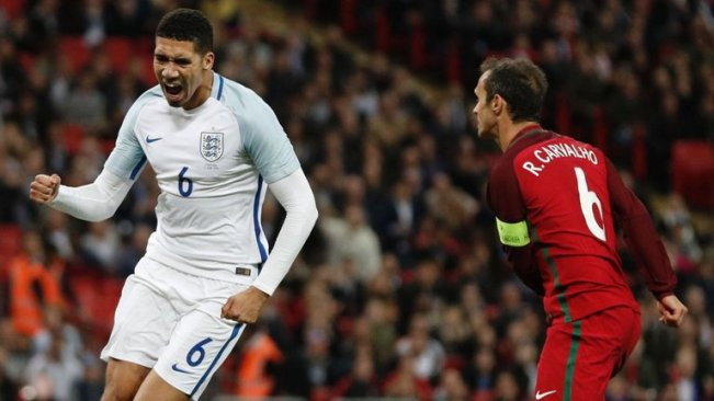 Chris Smalling scored a late winner for England against Portugal image: skysports.com
