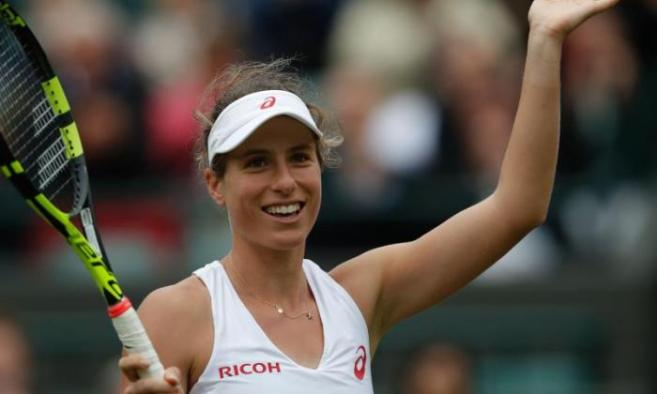 Johanna Konta picked up her first ever win at Wimbledon image: talksport.com