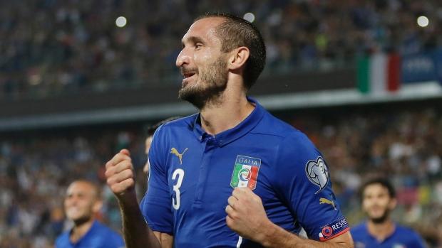 Giorgio Chiellini has over 80 caps for Italy image: tsn.ca