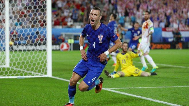 Ivan Perisic scored the winner in Croatia's 2-1 win over Spain image: skysports.com