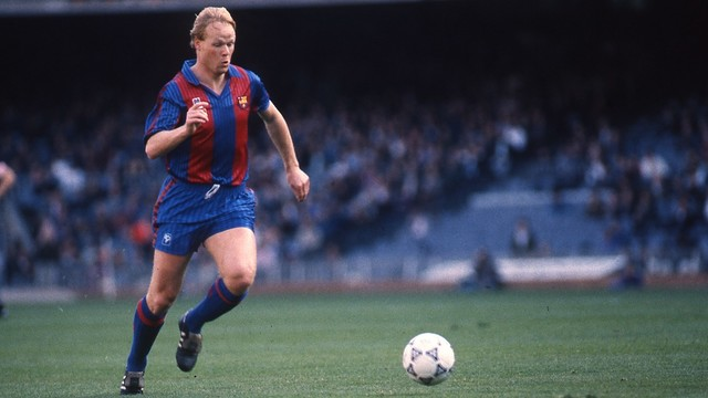 Koeman won a Champions League with Barcelona as a player image: fcbarcelona.com