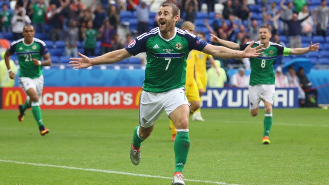 Niall McGinn's injury time goal made sure of Northern Ireland's first ever Euros victory image: skysports.com