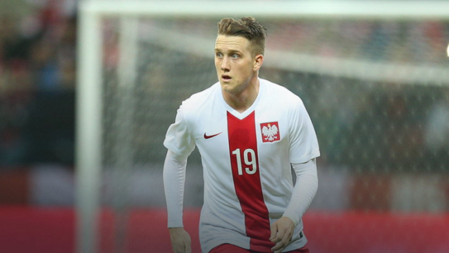 Piotr Zielinski has scored three goals in 13 appreances for Poland image: talking baws.com