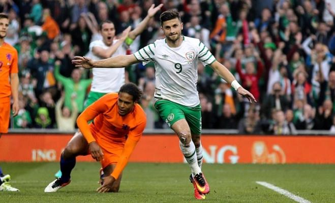 Shane Long scored in Ireland's 1-1 warm up draw with The Netherlands image: setanta.com