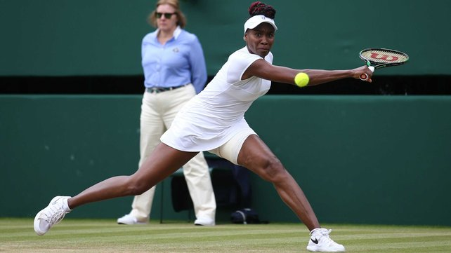 Venus Williams is through to the semi-finals at Wimbledon for the first time since 2009 image: rte.ie