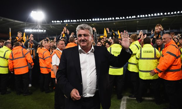 Steve Bruce departs Hull after two promotions and one relegation with the Tigers image: theguardian.com