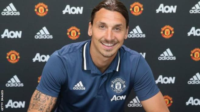 Zlatan Ibrahimovic has signed a one-year deal at Old Trafford image: bbc.com