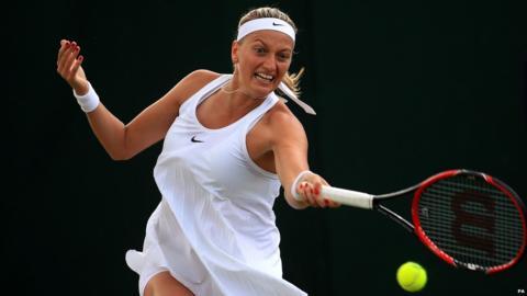 Two-time Wimbledon winner Ptera Kvitova fell at the fourth round image: bbc.com