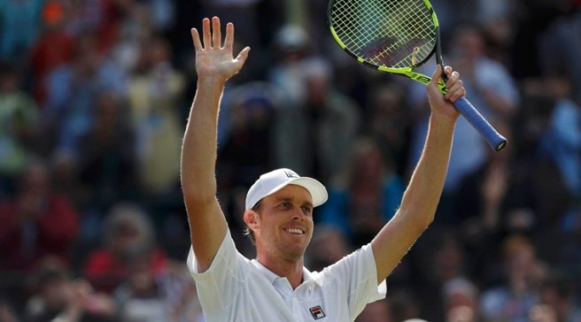 Sam Querrey inflicted a first grand slam defeat on Novak Djokovic since May 2015 image: newsdog.today
