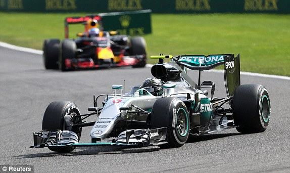 Nico Rosberg to within nine points of Leiws Hamilton in the overall standings image: dailymail.co.uk