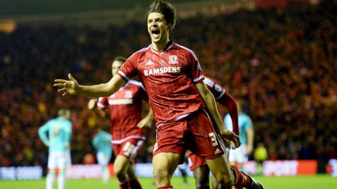 George Friend moved to Boro from Doncaster in 2012 image: theworldgame.sbs.com.au