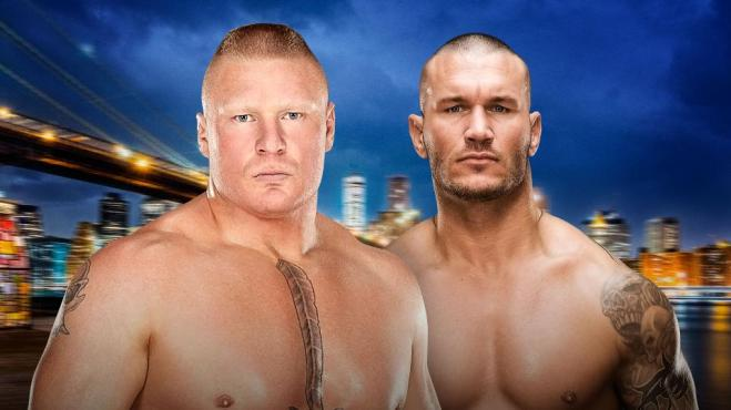 Randy Orton looks to become the first man to pint Brock Lesnar in over three years image: wwe.com